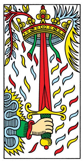 LEONE_Asso di Spade - Caro Leone, non solo le Spade sono connesse all'elemento aria, ma lo sbuffo della manica che si intravede nella carta assomiglia a una nuvola.La parola magica per il tuo novembre deve essere Leggerezza e per ricordartelo i tarocchi ti consigliano di mangiare un dolce che prende il nome da un tessuto così leggero da essere quasi impalpabile, ma resistente e prezioso al tempo stesso.Se clicchi qui troverai la ricetta della Chiffon Cake.