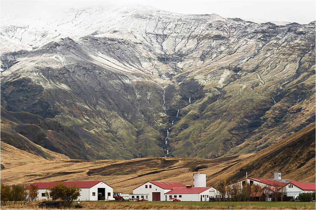 Red Roofs, Eyjafjallajokull © Jim Young