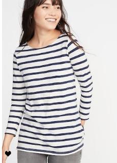 Striped Tee- $16.99