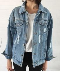 Distressed Denim Jacket- $32