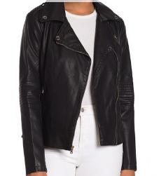 Faux Leather Jacket- $60
