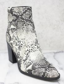 Snakeskin booties- $40