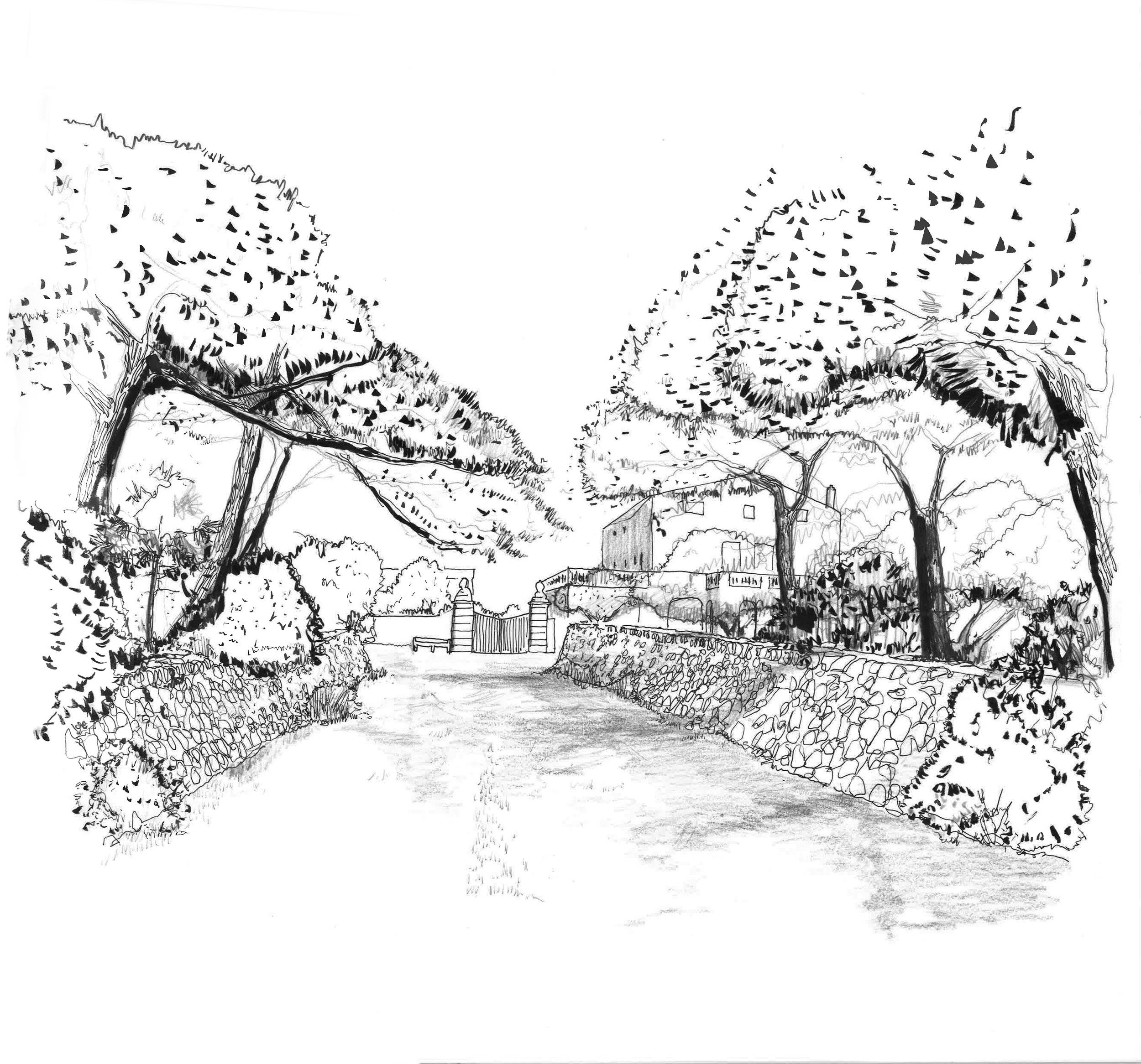 Création d'un jardin autour d'une Finca, Minorque, Espagne   L'Agence Christophe Gautrand & Associés propose une grille de lecture du site à différentes échelles pour offrir un projet cohérent entre les divers espaces.