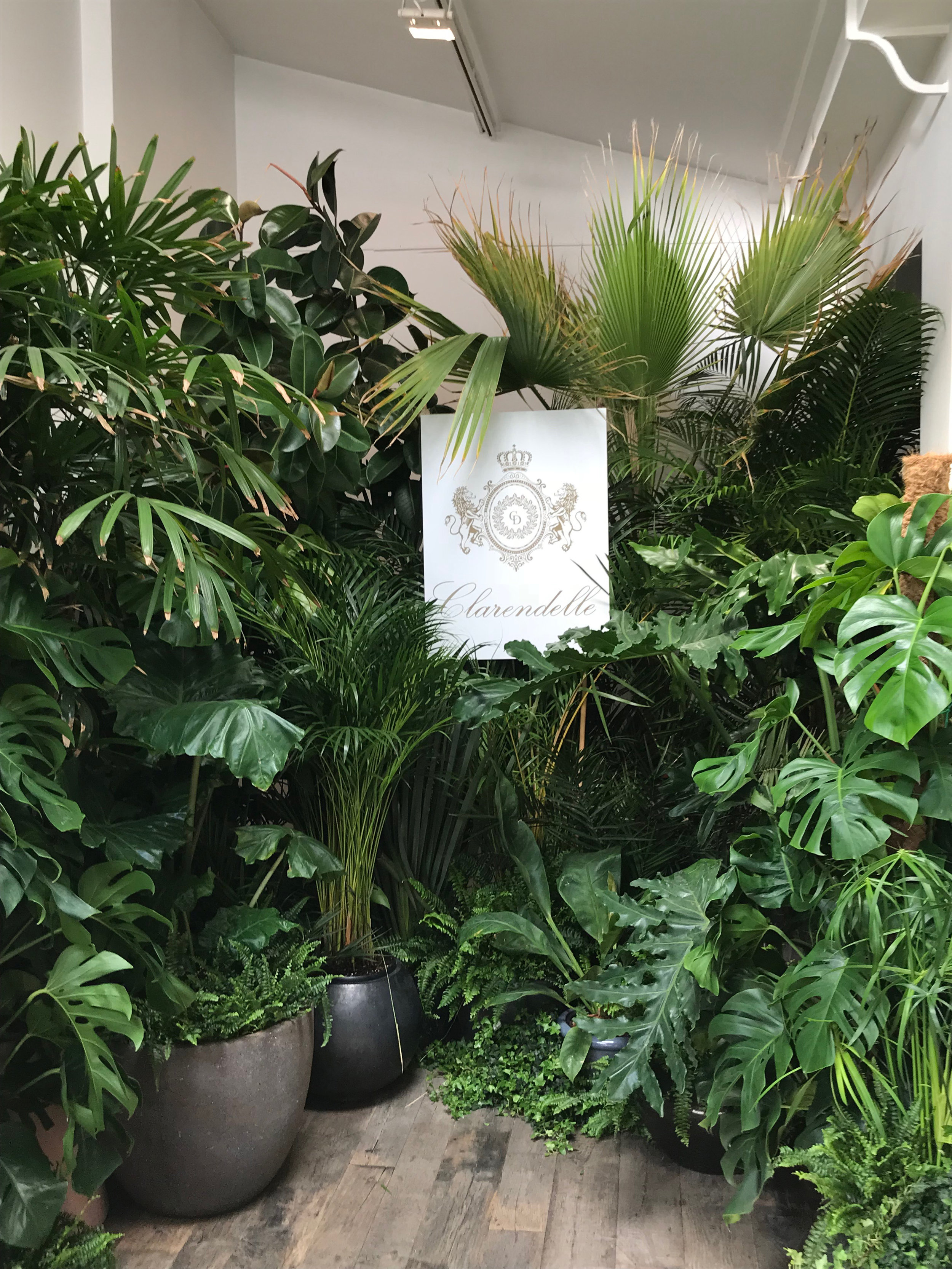"""Scenography Clarendelle / Atelier 13 Sévigné, Paris  The space """"Atelier 13 Sévigné"""" has been completely transformed for an evening into a vegetable oasis to offer to its guests a green paradise of pleasure and entertainment."""