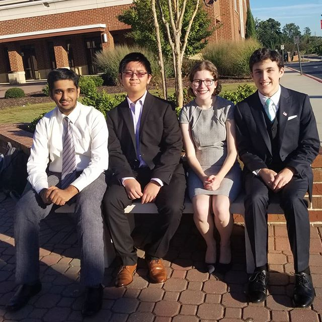 It was a good weekend at Johns Creek with some of our younger debaters! Xianjie and Ayaan picked up their first wins as a new partnership, while Ramon tried new events in Extemp and Impromptu. Katelynn and Blake got a lot of experience debating diverse styles of LD, from more traditional debates to progressive argumentation. Ramon finished 6th in Extemp, and Katelynn finished 3-2 in LD and missed clearing on speaker points.  Next weekend, a small group is going to Mississippi for our last PF bid tournament on the UNCLOS topic, while the rest of the team researches and prepares cases for November!