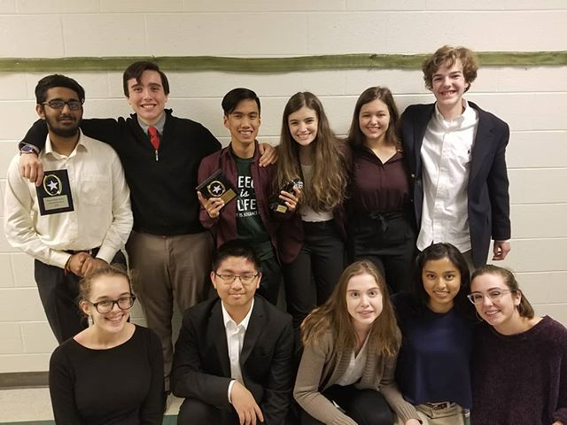 This weekend, we traveled a little closer to home - the Peach State Classic in Carrollton. The team debated well - AND we had a little help from Gwyn ('18), who judged for us this weekend.  Kiko (OO, IMP) and Aidan (EXT) earned state bids. Mariah and Noor earned their second state bid...and more importantly, earned their second TOC bid! They are now the 4th CHS team to qualify to the Tournament of Champions in Public Forum! #debatelikeagirl  We'll be competing at Grady next weekend before taking a break for Thanksgiving...but we're already thankful for a successful month in debate!