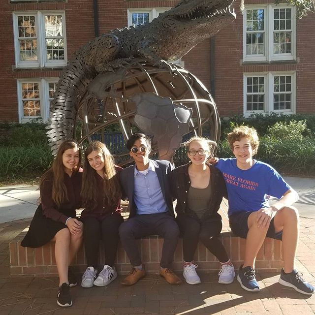 We're a little behind on social media updates, so enjoy this trip down memory lane while we update our last few weeks!  We ended October with a beautiful weekend at the University of Florida. Mariah and Noor reached octos and earned their first bid to the Tournament of Champions! Kiko reached semifinals of OO, earning HIS first  TOC bid! Lilli and Chad gained some great experience against strong national circuit programs....and got to enjoy some reunions when Lilli's family and Chad's brother (Jack, CHS '15) met up with us at the tournament!