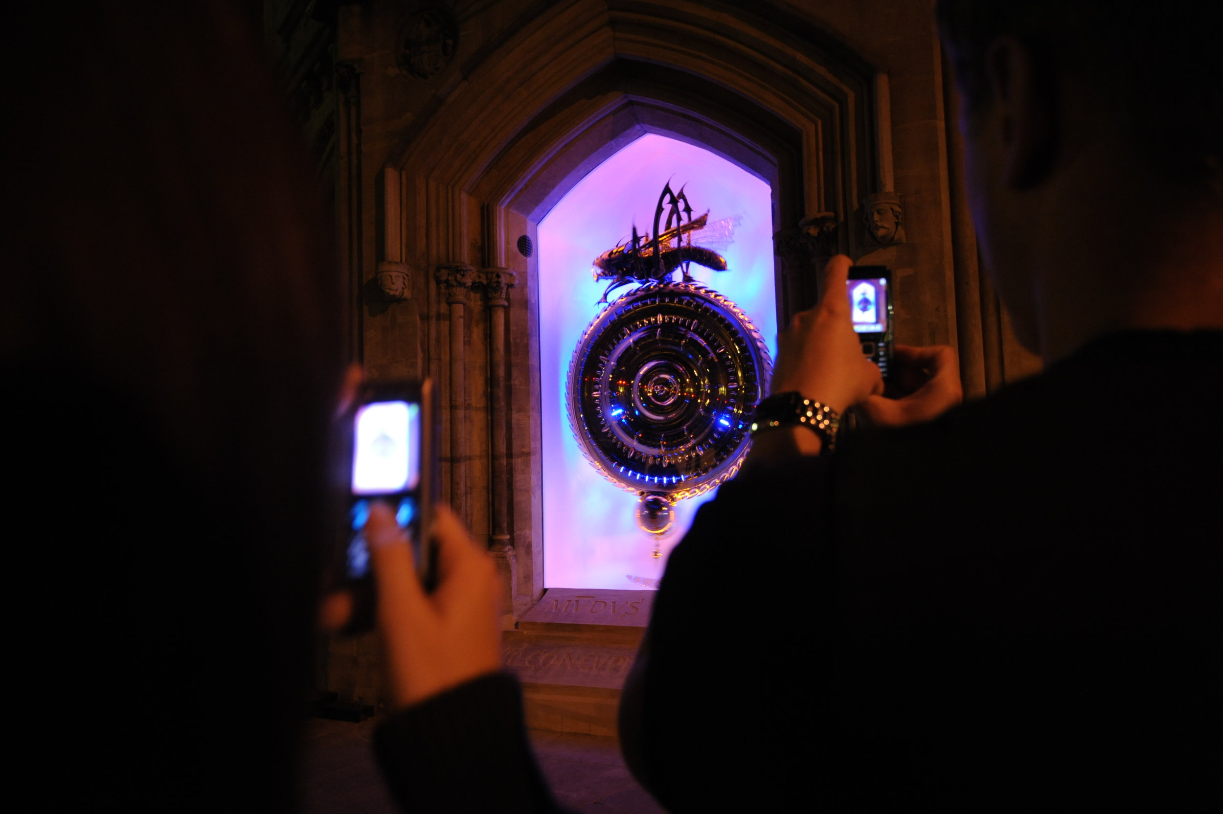 Unveiling of the Corpus Clock & Chronophage, Cambridge