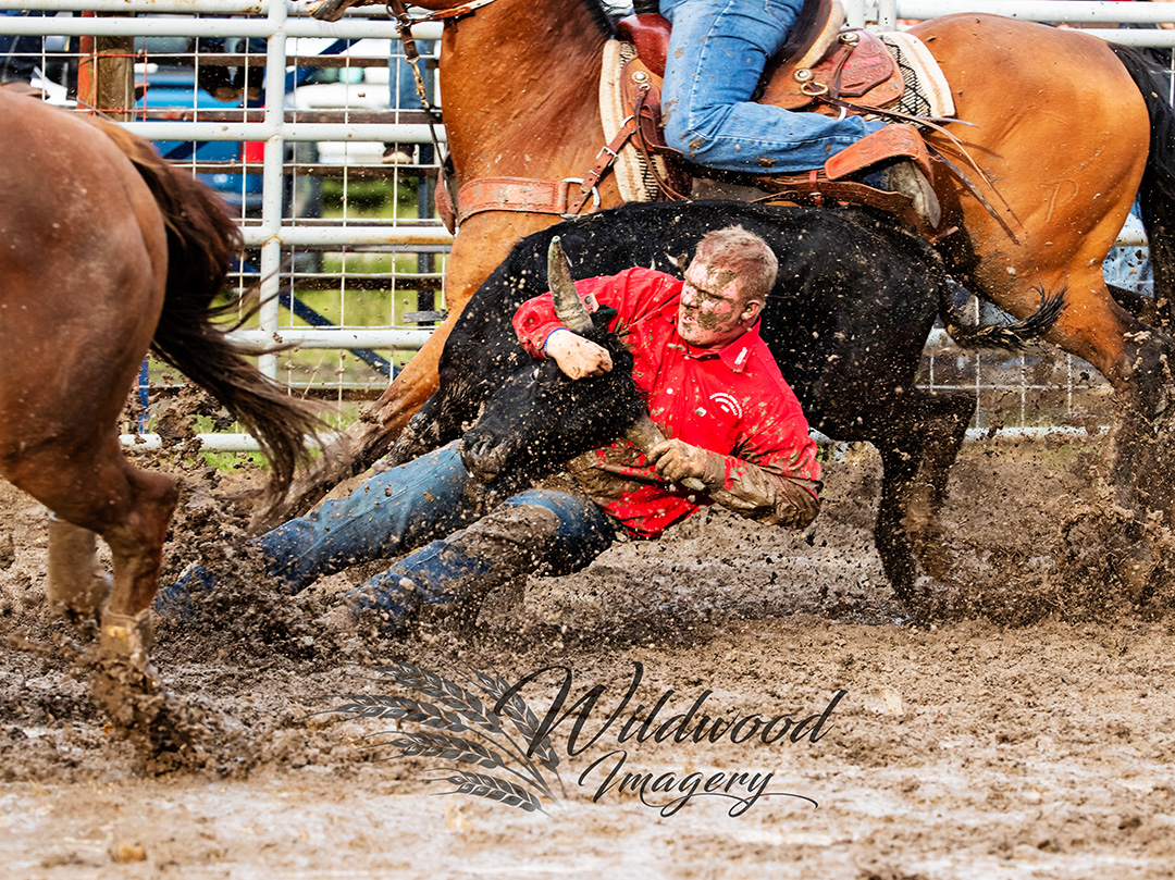 JACK MITCHELL competing at the Sat Perf - Couttsgrass Rodeo in Coutts, Alberta, Canada on June 16, 2018. Photo taken by Wildwood Imagery / Chantelle Bowman.
