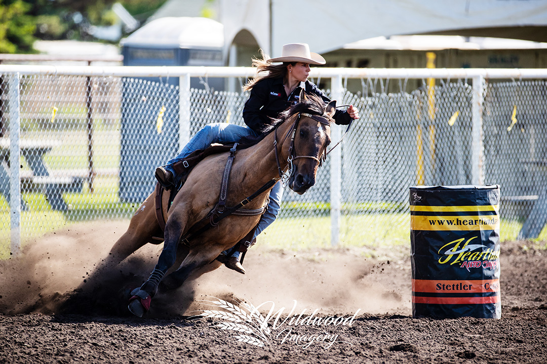 competing at the Slack - Stettler Steel Wheel Stampede  in Stettler, Alberta, Canada on June 08, 2018. Photo taken by Wildwood Imagery / Chantelle Bowman.Liane Poletz competing at the Slack - Stettler Steel Wheel Stampede  in Stettler, Alberta, Canada on June 08, 2018. Photo taken by Wildwood Imagery / Chantelle Bowman.