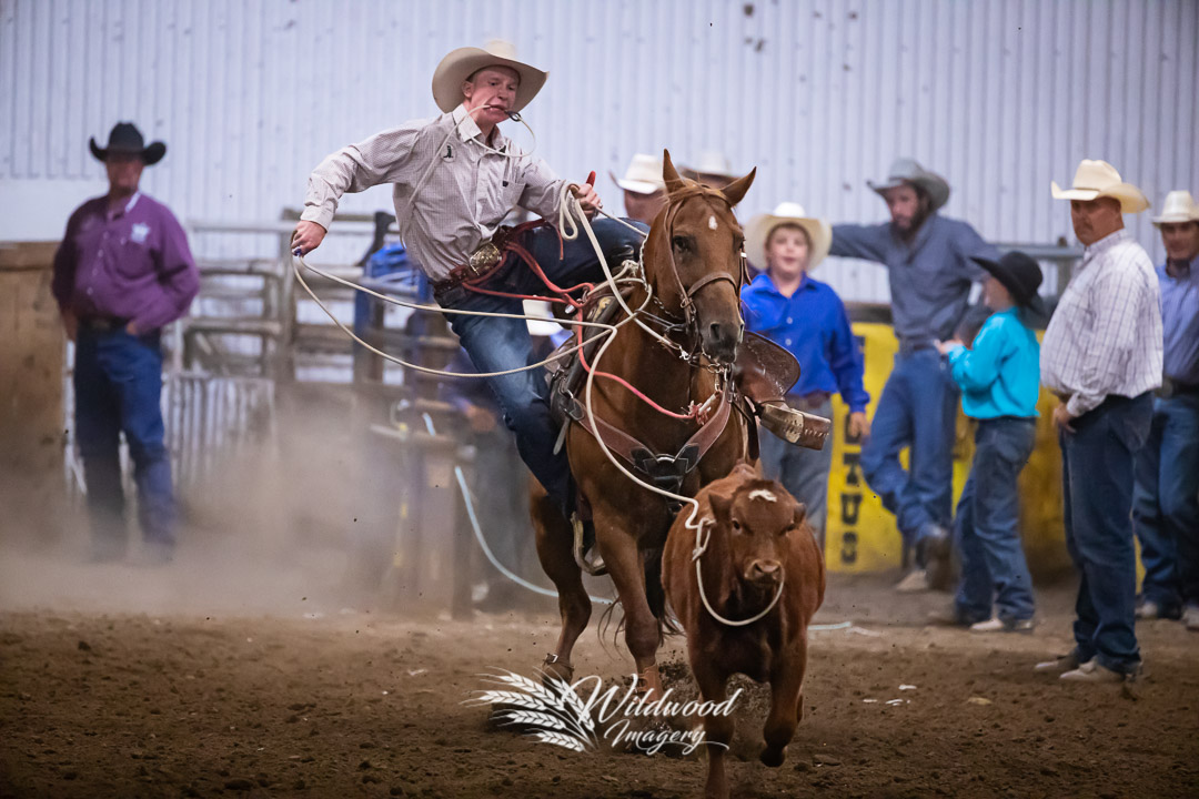 Ben Mitchell competing at the Cardston Friday Slack in Cardston, Alberta, Canada on August 10, 2018. Photo taken by Wildwood Imagery / Chantelle Bowman.