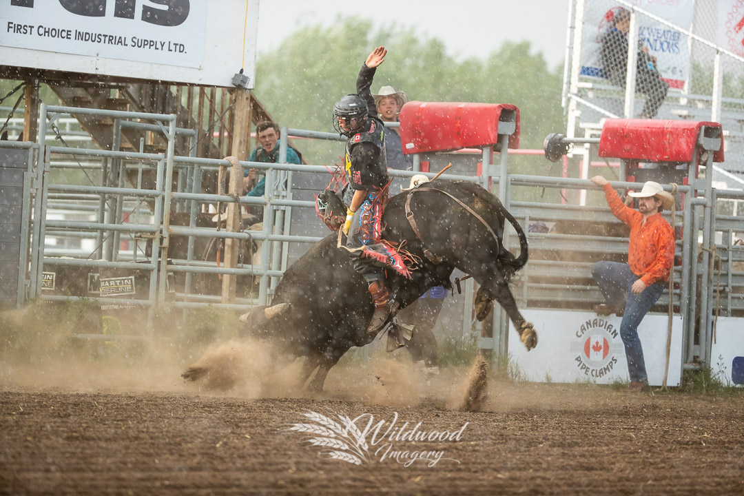 competing at the 2018 Rainmaker Rodeo in St.Albert, Alberta, Canada on May 25, 2018. Photo taken by Wildwood Imagery / Chantelle Bowman.