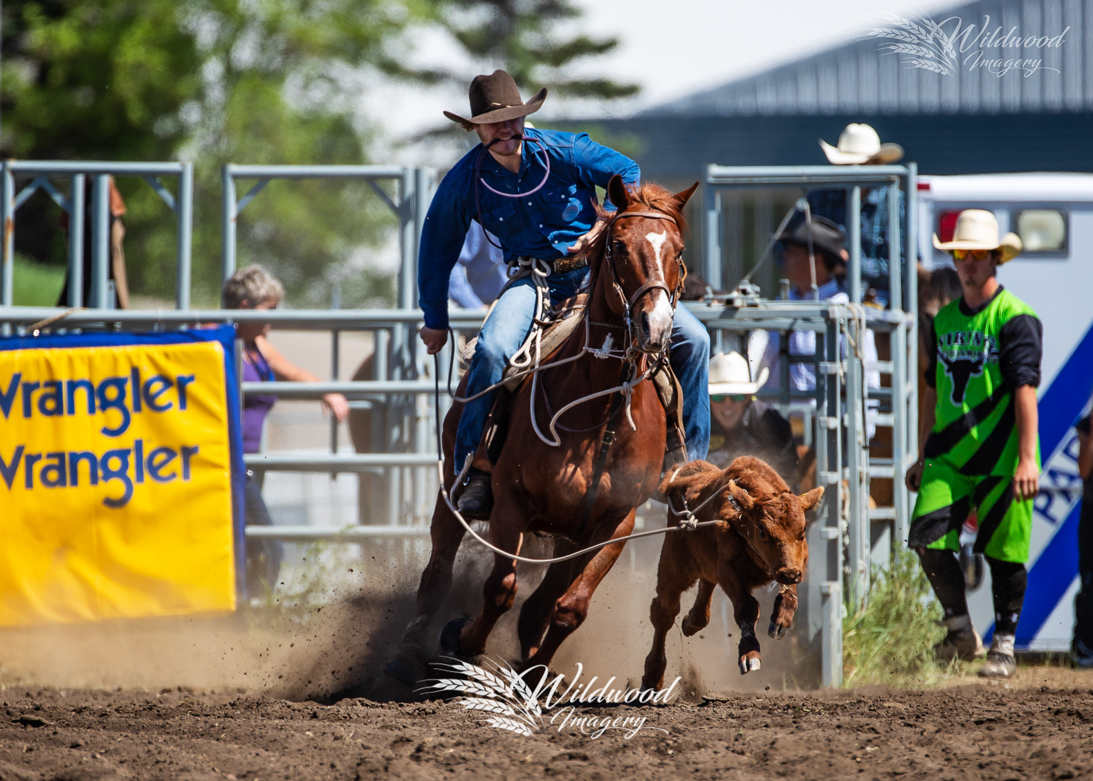 competing at the 2018 Rainmaker Rodeo Saturday Perf in St.Albert, Alberta, Canada on May 26, 2018. Photo taken by Wildwood Imagery / Chantelle Bowman.