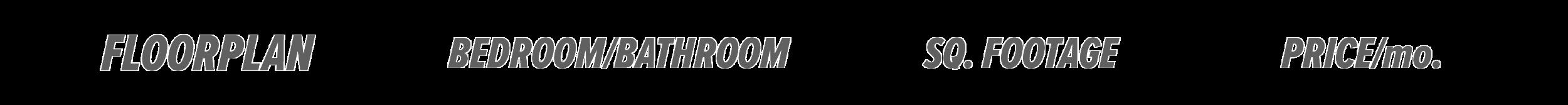 Floorplan – Bedroom/Bathroom – Sq. Footage