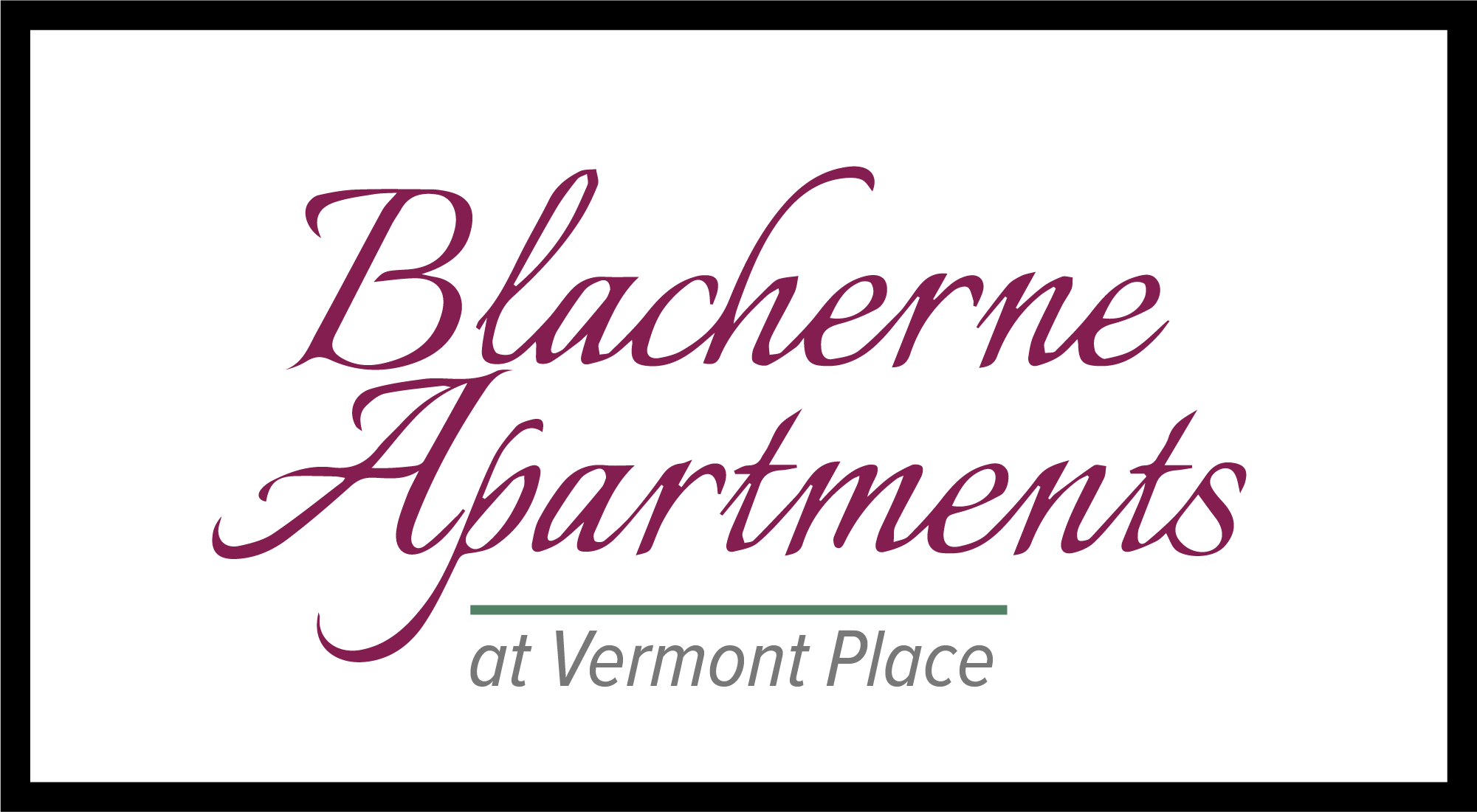 Blacherne Apartments at Vermont Place is Van Rooy Companies Property