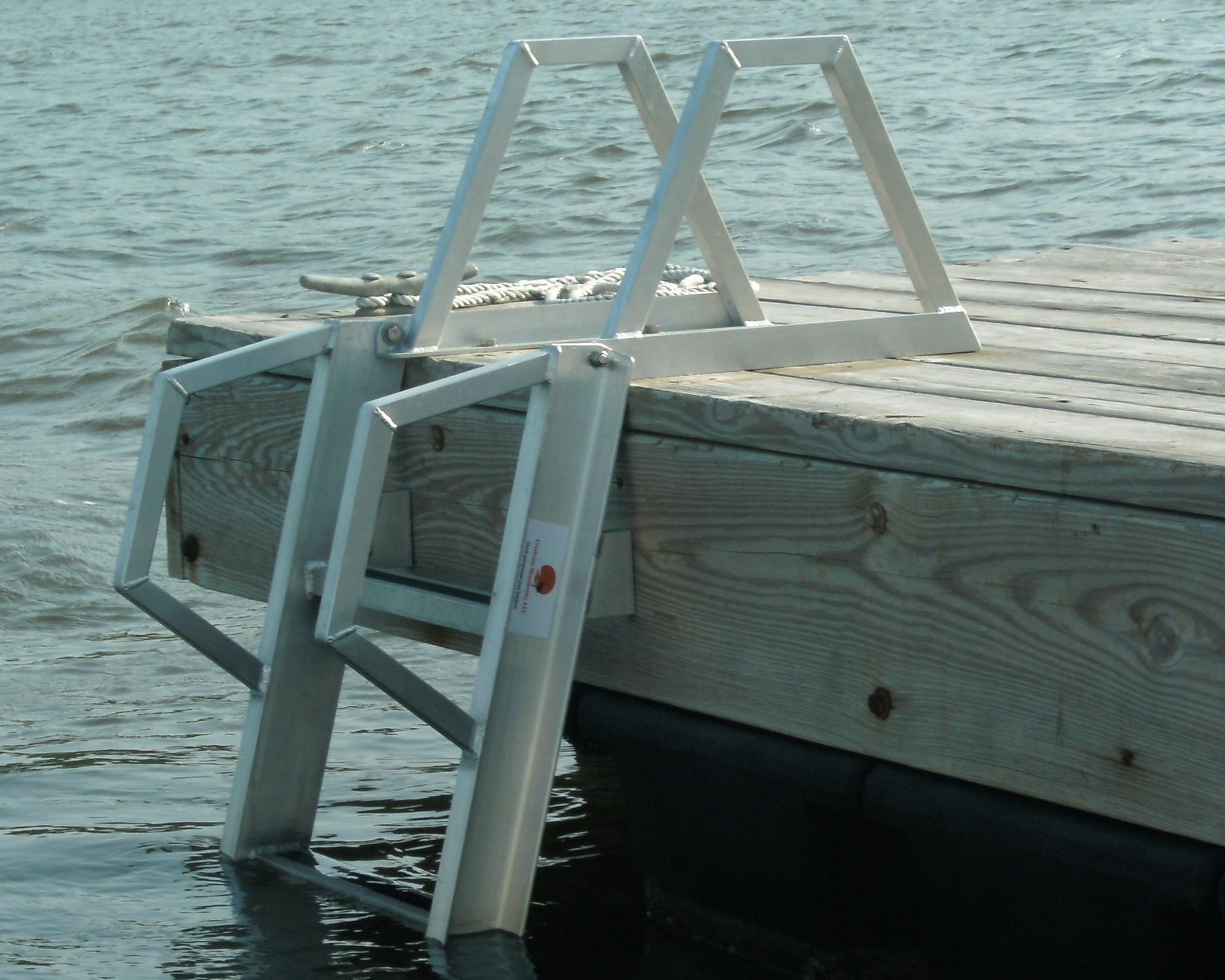 Floating Dock Ladder by Creekside Metalworks