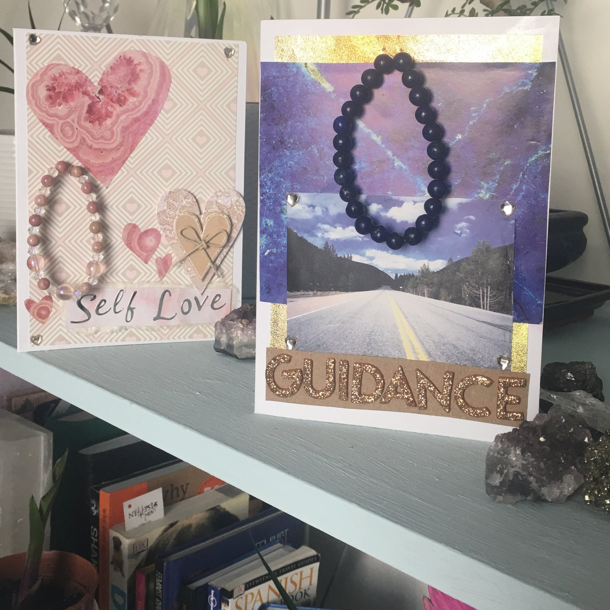 to include a handwritten message & post the card directly to your recipient, please get in touch  - You can e-mail us via our contact page or on instagram @thegemstoners