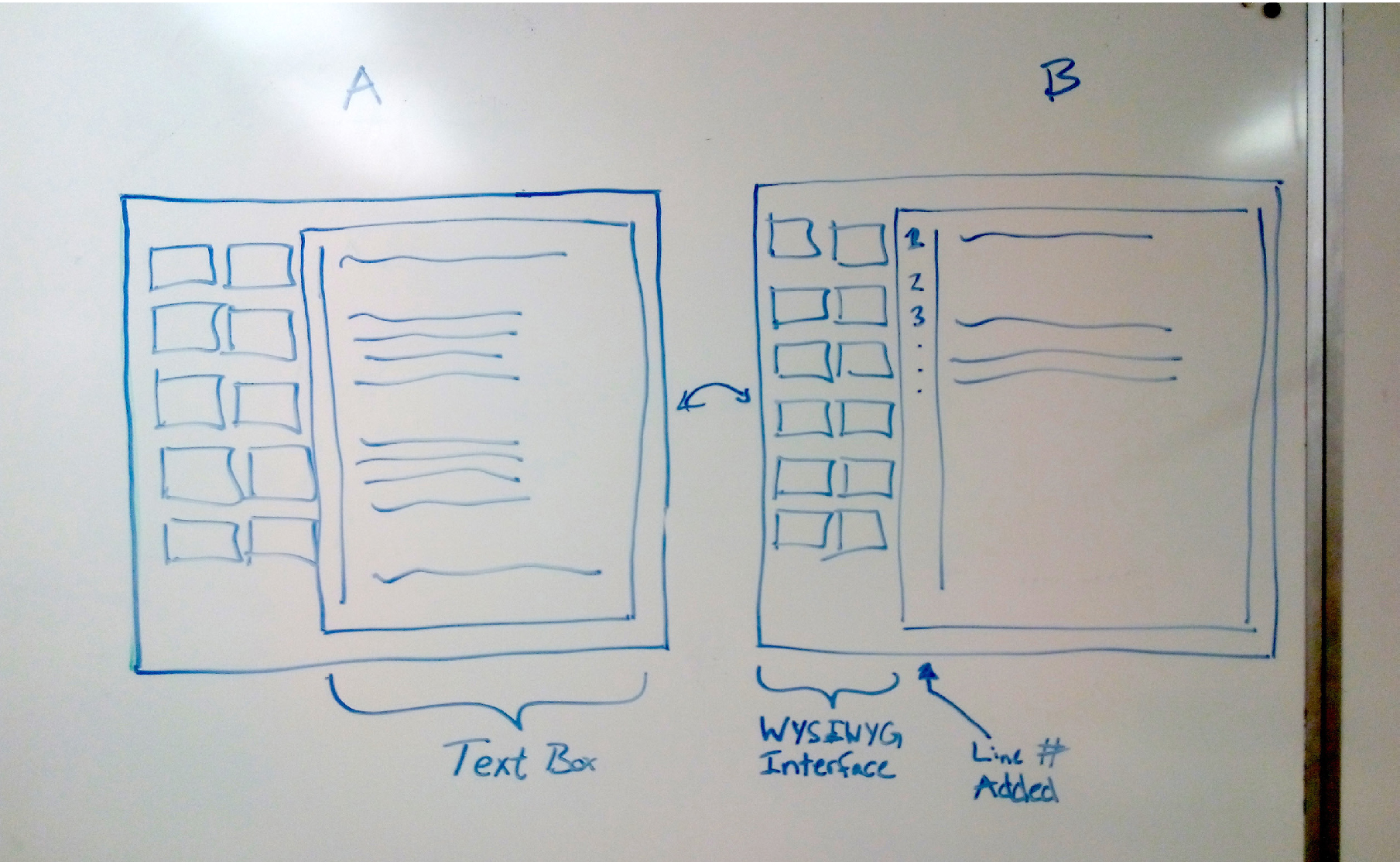 Initial interface sketches.