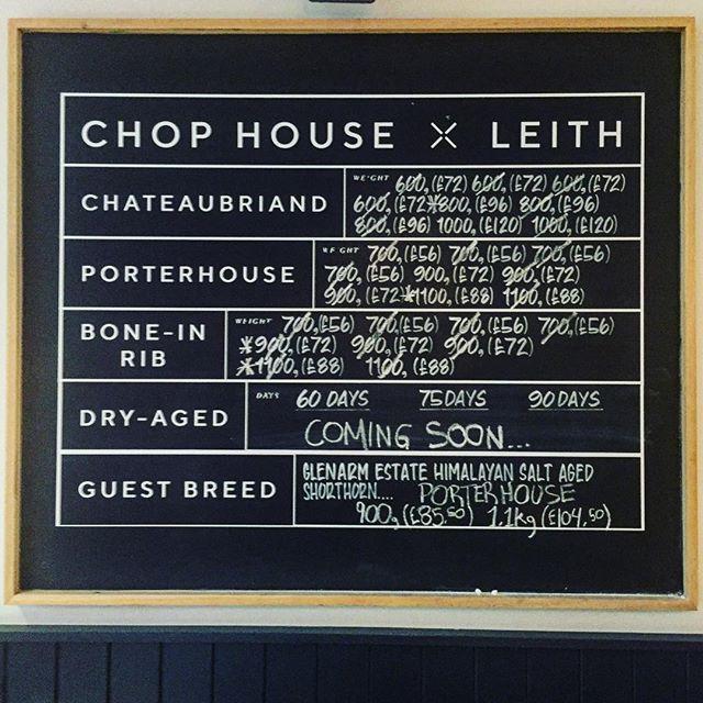 Lunch today @chophousesteak . . . . . . #steak #scotland #beef #steakknife #knife #sharp #meat #scottishbeef #highland #agedried