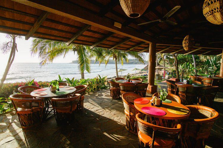 Oceanfront, open-air dining