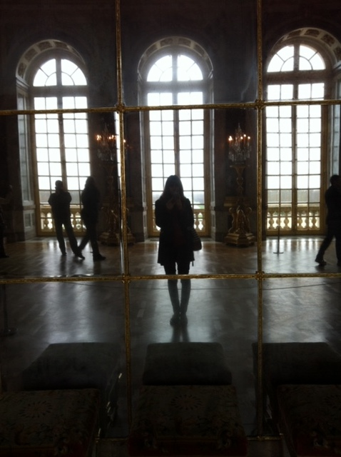 I am not great at getting photos of myself while traveling. I try my hardest with the selfies but I usually turn my phone off a few times before I actually get one. How do the kids do it? Luckily I captured this one in the Hall of Mirrors. When in Versailles right?
