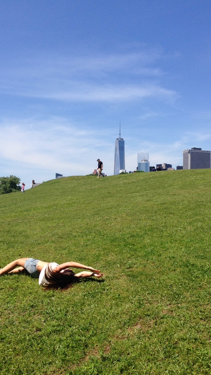 My annual roll down a hill at Governor's Island. I highly recommend it.