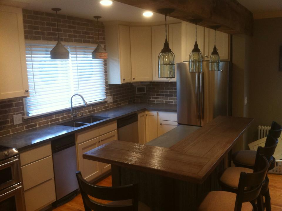 Concrete Kitchen Wood Grain Countertops – The Concrete Moon