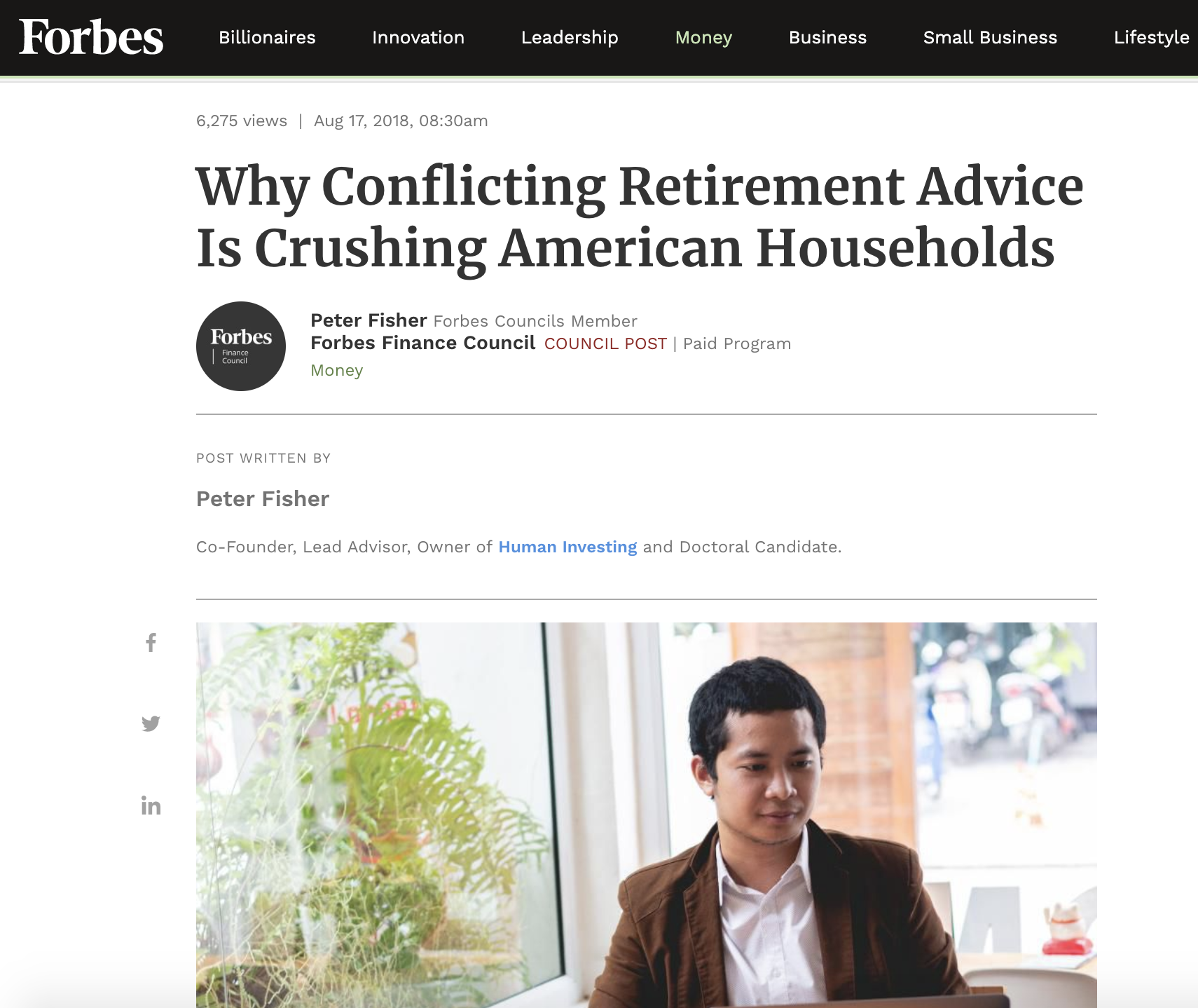 WHY CONFLICTING RETIREMENT ADVICE IS CRUSHING AMERICAN HOUSEHOLDS - Forbes ∙ August 17, 2018