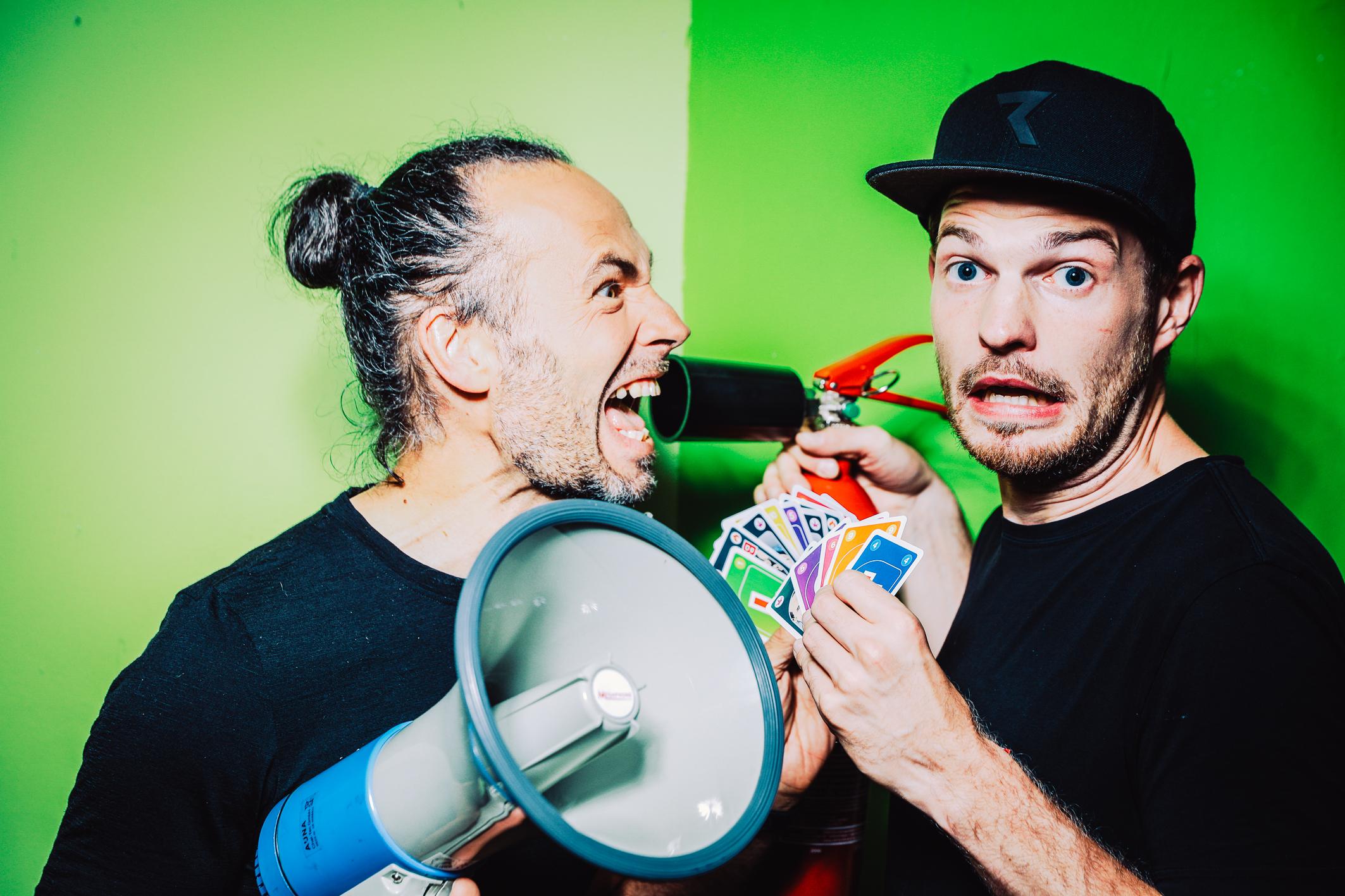"""Eddi Hüneke und Tobi Hebbelmann. Foto: Moritz """"Mumpi"""" Künster. Zum hochauflösenden Download aufs Bild klicken."""