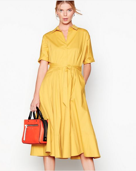 J by Jasper Conran at Debenhams- Yellow Shirt Dress