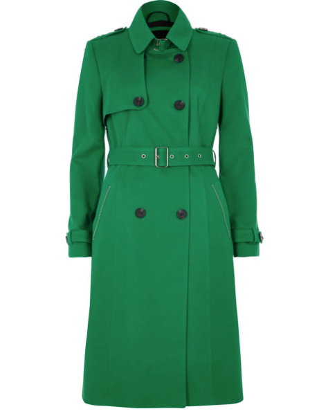 River Island- Green Trench Coat