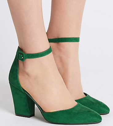M&S- Green Heels