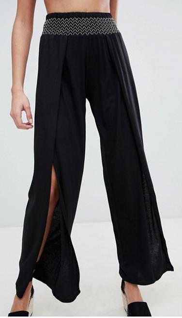 New Look- Wide leg Split Trouser