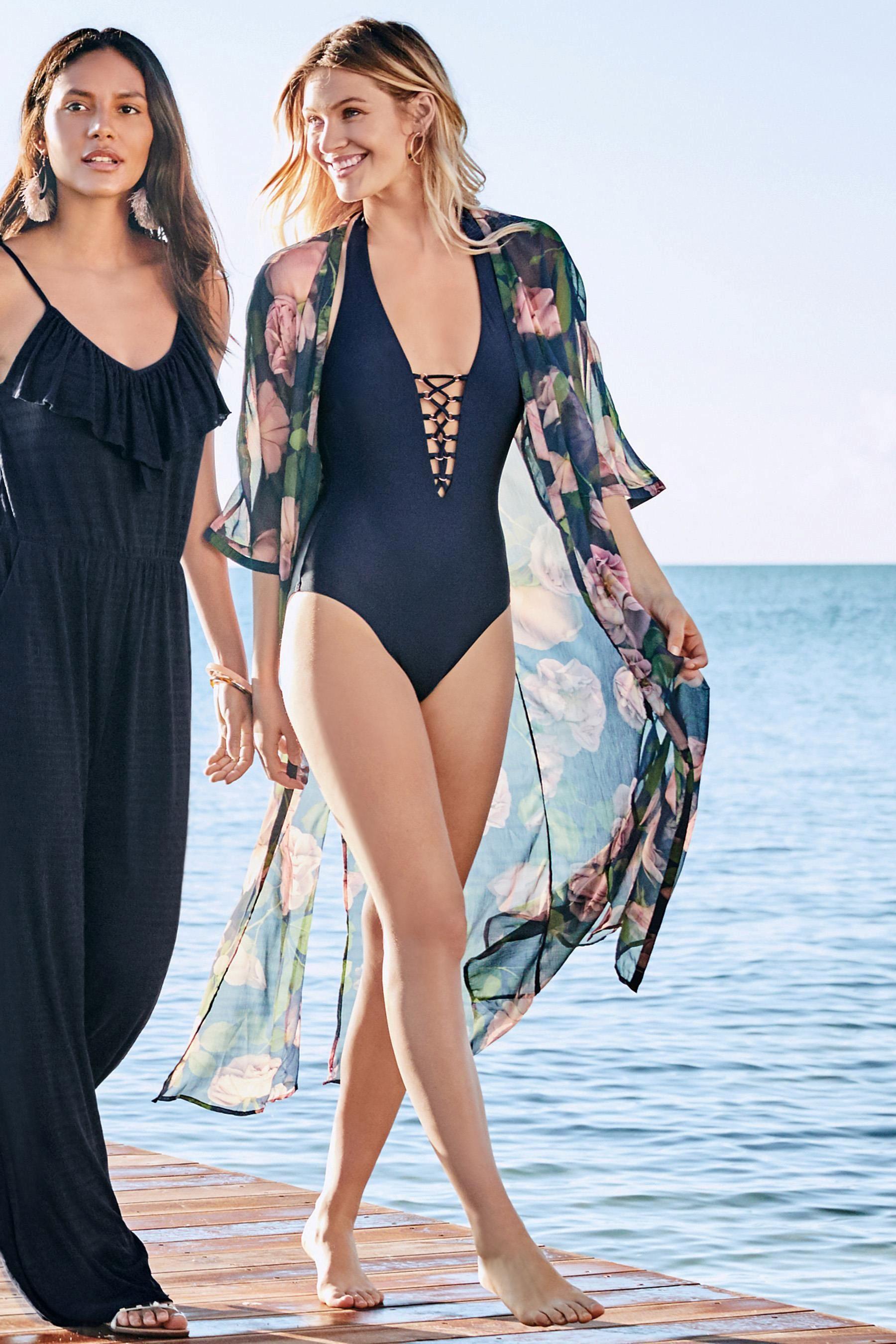 Next Floral Kimono £32 & Swimsuit £30