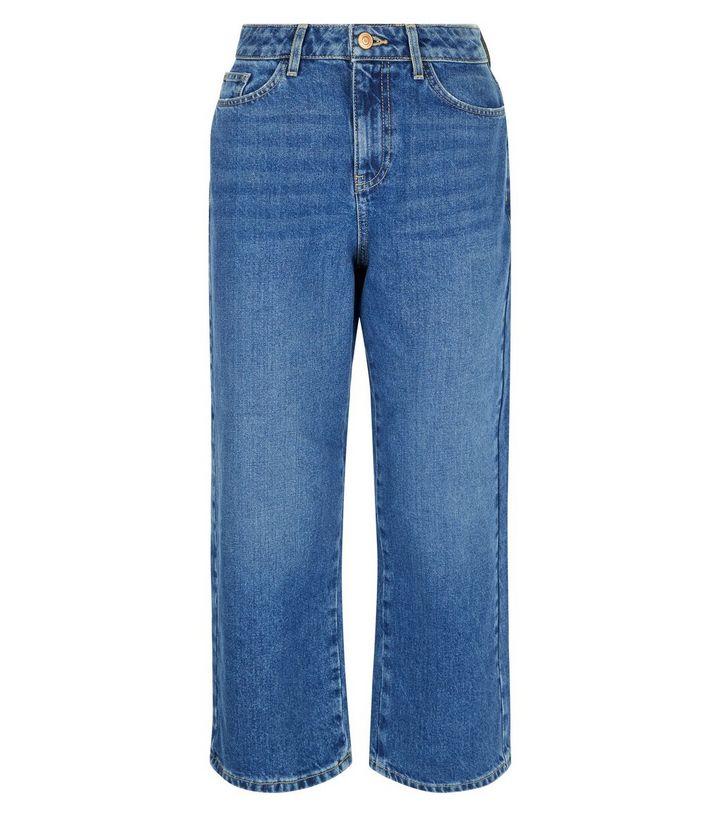 New Look- Blue Copped Wide Leg Jean