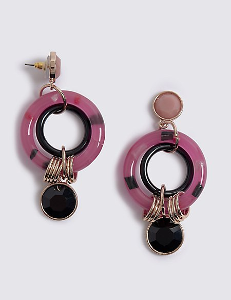 Rounded Drop Earrings