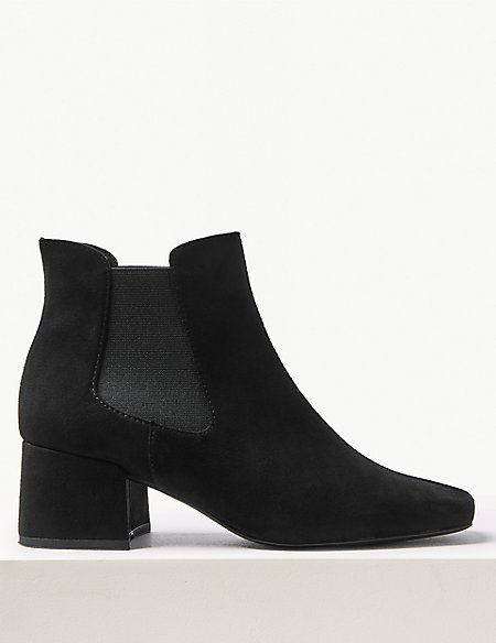 Block Heel Chelsea Boot