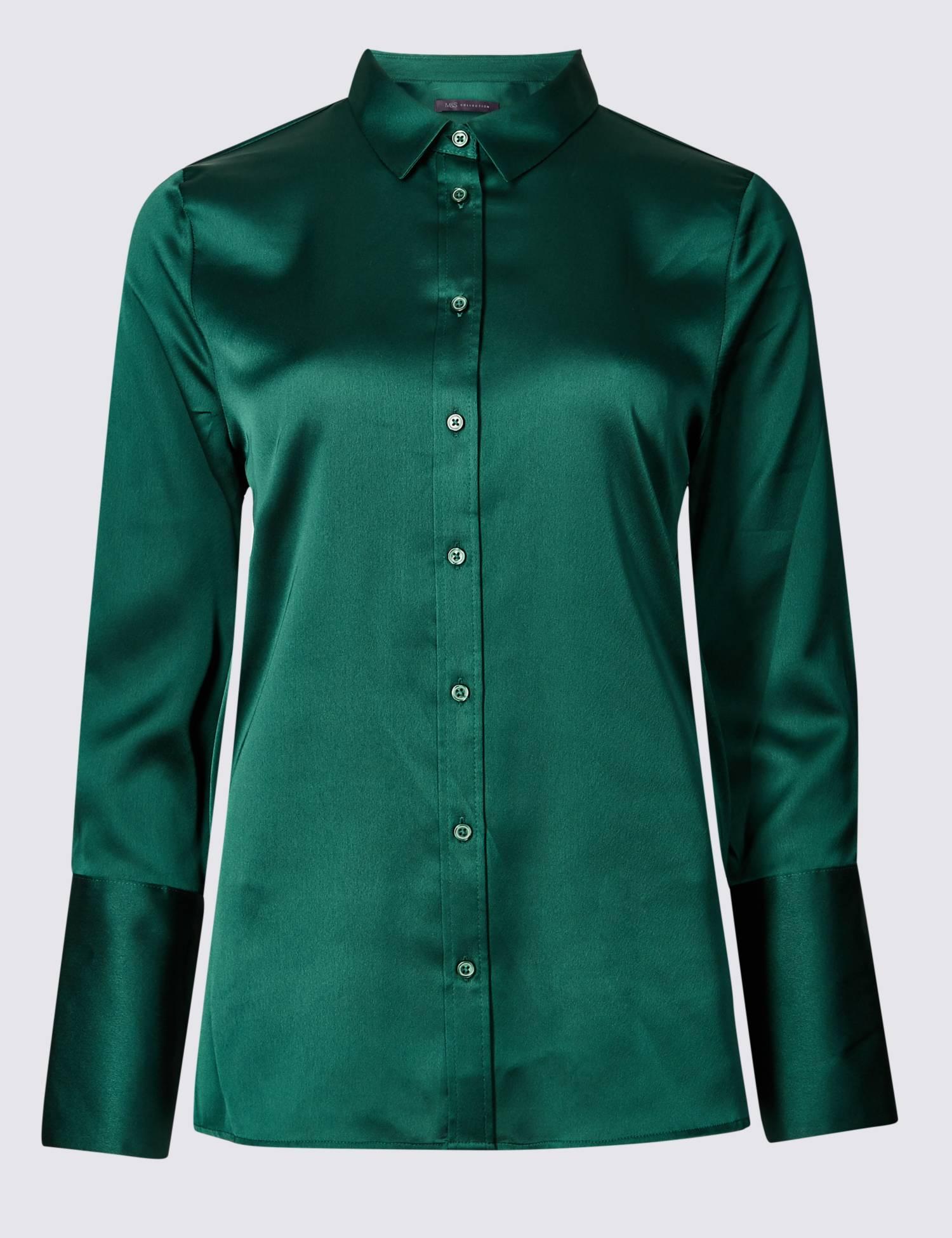 Collection Satin Long Sleeve Shirt
