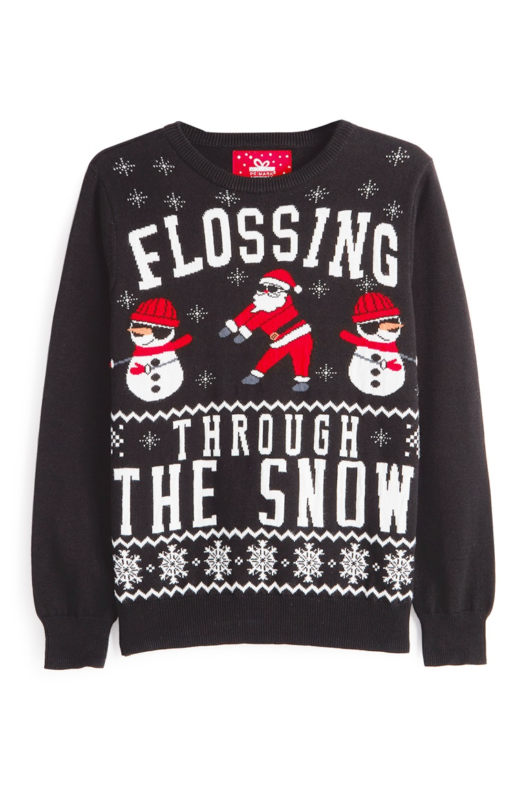 Santa 'Flossing through the snow' perfect for my boy