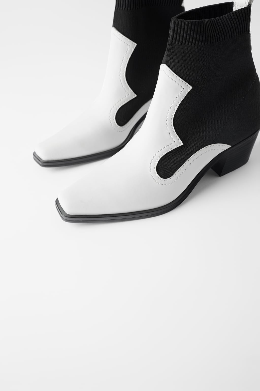 Zara Contrast Western Boots