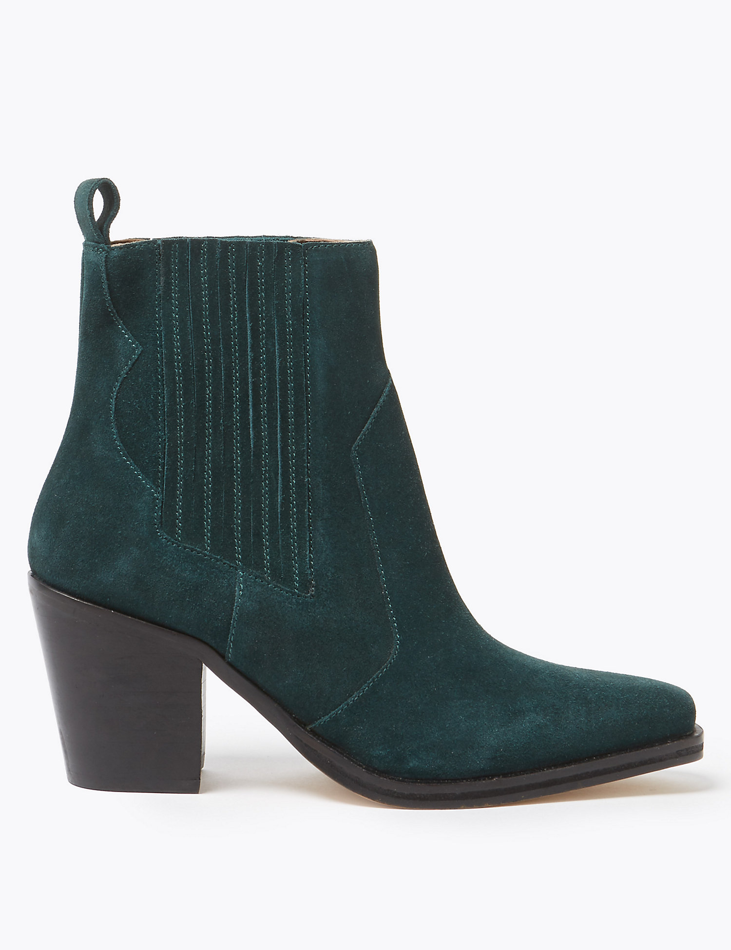 M&S Green Suede Boots