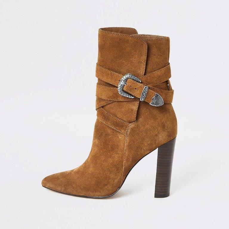 River Island Brown Heeled Boots