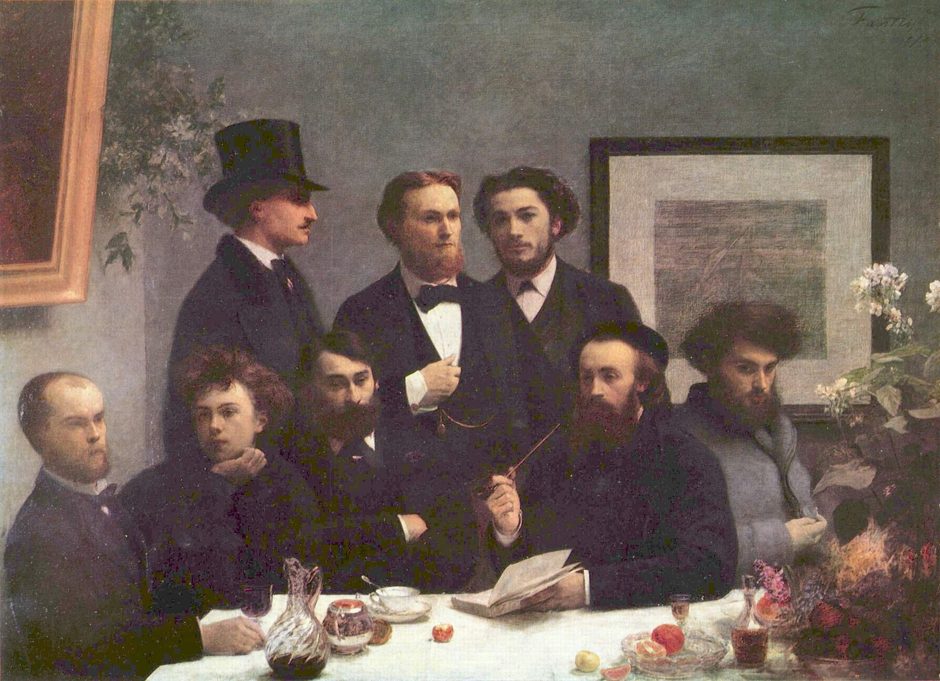 Un Coin de Tabl e, 1872 Oil on Canvas160x225cm