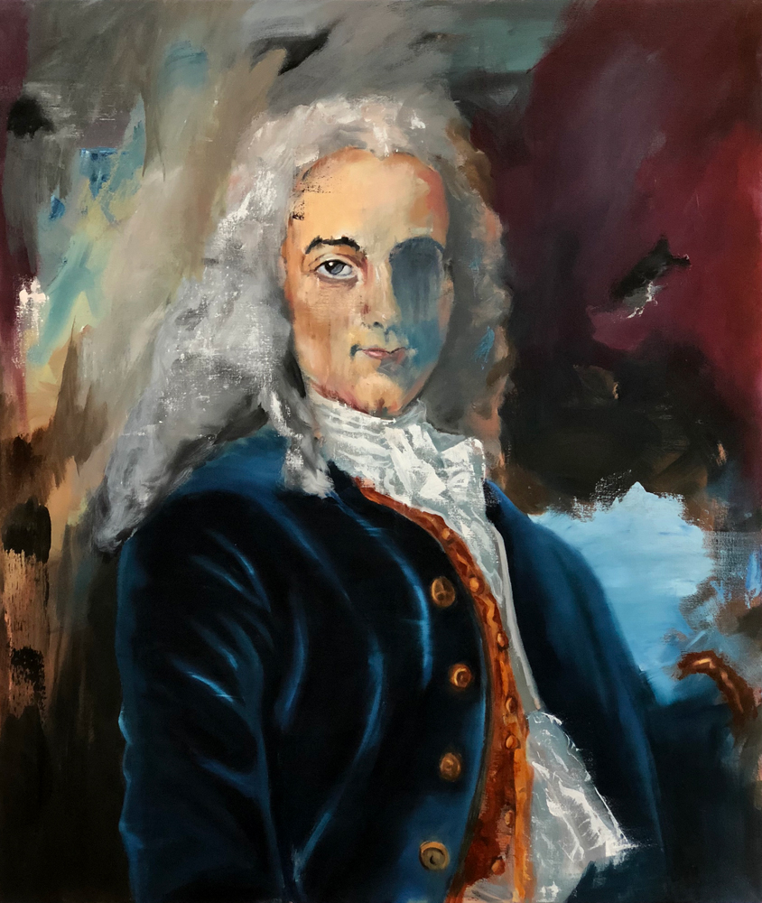 Voltaire, 2018 Oil on Canvas 109x91cm (Available for Sale)