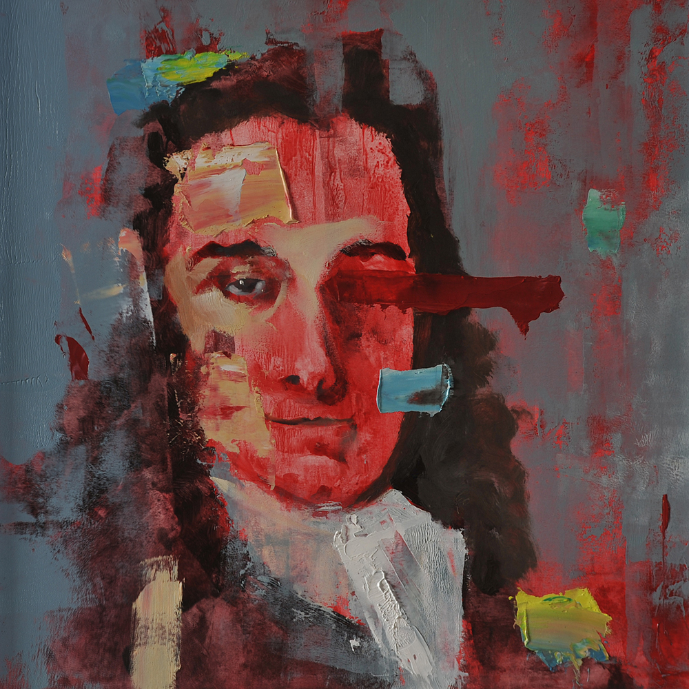 Voltaire, 2017 Oil on Paper 28x28cm (Available for Sale)
