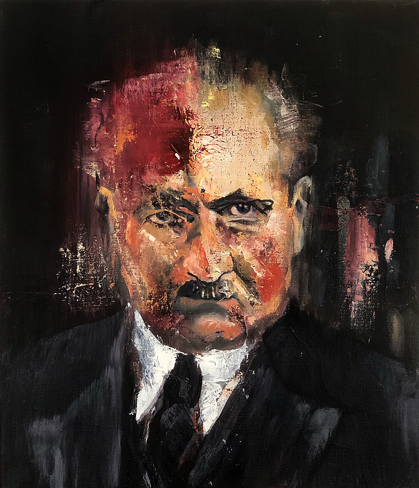 Martin Heidegger, 2018 Oil on Linen 35x30cm (Available for Sale)