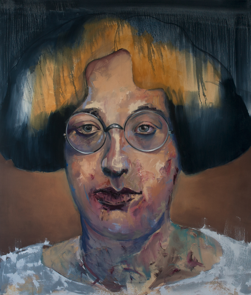 Simone Weil, 2018 Oil on Canvas 200x170 cm (Available for Sale)