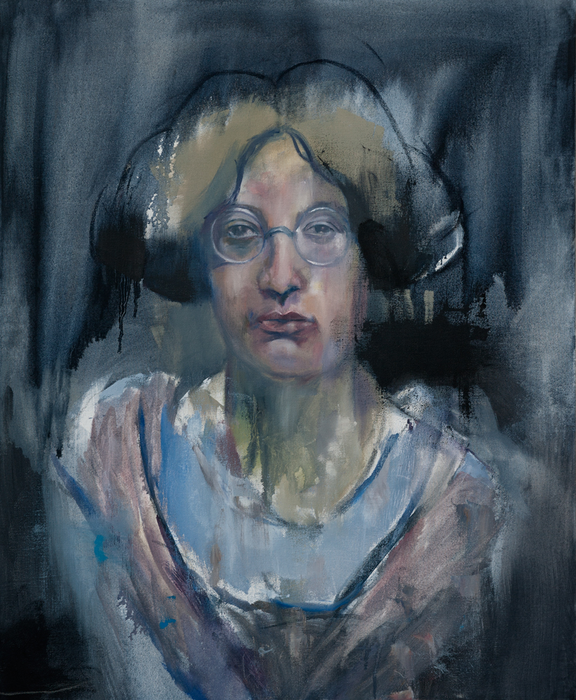 Simone Weil, 2018 Oil on Canvas 85x70 cm (Available for Sale)