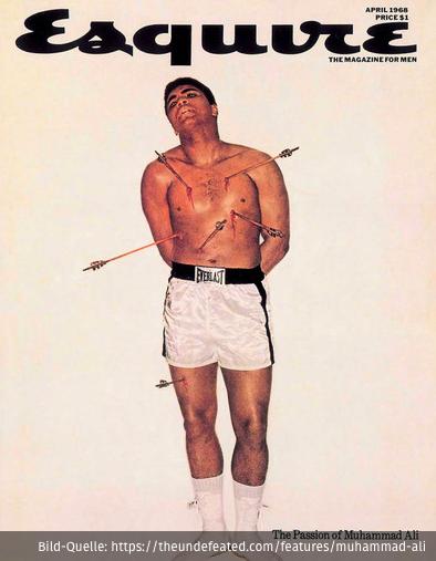 Muhammad Ali als Heiliger Sebastian auf dem Esquire-Cover