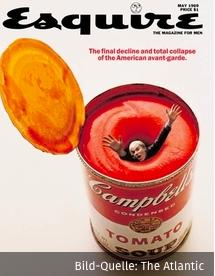 Andy Warhol versinkt in seiner eigenen Suppendose